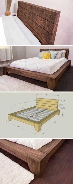 Platform Bed, Platform, Beds, Bed Frame, Reclaimed Wood, Rustic, Furniture, Bedroom Decor, Bedroom Furniture, Home Decor, Wood Bed Frame