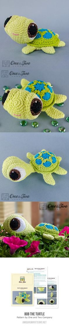 Bob The Turtle Amigurumi Pattern