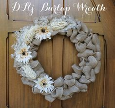 Linen, Lace, & Love: DIY: Burlap Wreath #DIY #Burlap #wreath #fall #decor