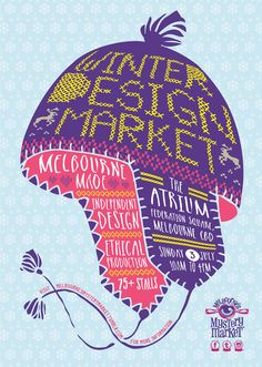 The next Melbourne's Mystery Market will take place inside The Atrium at Federation Square - it's undercover and climate controlled. A visit to the Winter Design Market can be turned into a whole day out with lunch at Beer Deluxe and a visit to the 200 Years of Fashion exhibition at The Ian Potter Centre after strolling through the market.  There are around 75 stall holders all presenting goods made in Melbourne; homewares, jewellery, fashion, food, vintage, stationery and art...