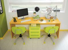 Camerette etniche ~ Camerette golf scrivania in lilla ciclamino e bianco opaco