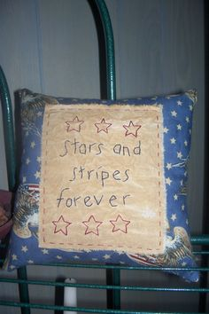 Primitive Stitchery Stars and Stripes Forever by scrapsofthepast, $8.00