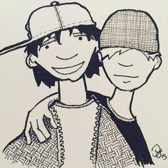 #inktober Day 27: buddies #kuretake #usa #dearjetpens #manuscriptinktober @manuscriptpenco #inktober2015