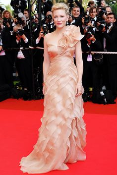 Cate Blanchett at Cannes in 2008 wearing Armani Prive