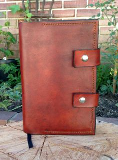 Custom leather Bible cover.