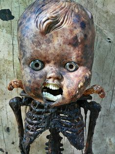 Creepy Doll Rise From The Ashes, Creepy Dolls, Baby Halloween, Lion Sculpture, Statue, Christmas Ornaments, Cool Stuff, Dark, Toys