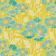 Pristine Poppies in Citron - Voile - The Make Café