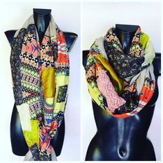 Stola patchwork nata dal riciclo di pregiati tessuti! Ogni sciarpa è unica al mondo, sono pezzi irripetibili creati a mano! Brand Pez! Seguici su Instagram...Pez_mood