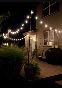 Twinkling patio lights