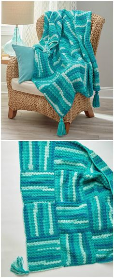 I have rounded up some of the best and interesting free crochet Blanket patterns for your home!Wavy Squares Throw Free #Crochet #Pattern