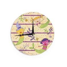 "Jane Smith ""Under the Sea"" Tan Purple Wall Clock"