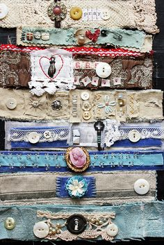 Textile Art by Rebecca Sower, via Flickr