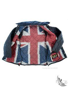 Barbour Boys' Union Jack Liddesdale Jacket - Navy CQU0072NY91