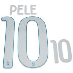Brazil 2014/15 Pelé #10 Adult Away Name Set