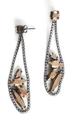 Iosselliani Jeweled Tear Drop Earrings, $210