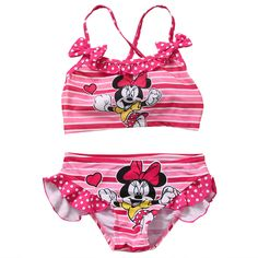 Summer Minie Mouse Summer suit 2017 Two-Pieces Kids Baby Girl beach set Bathing Suit
