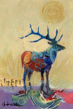 Deer Original Painting on Etsy, $100.00
