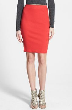 Sophie Rue Ribbed Body-Con Skirt available at #Nordstrom