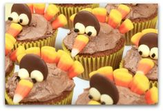 thanksgiving decoration ideas | Thanksgiving Cupcakes, Turkey Cupcakes, Cupcake Decorating Ideas for ...