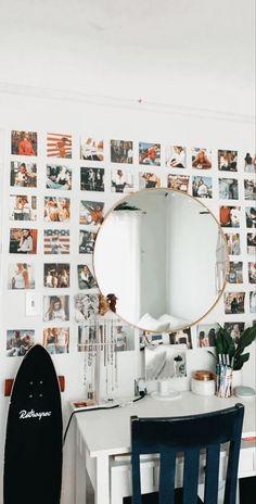 Cute Room Ideas, Cute Room Decor, Teen Room Decor, Picture Room Decor, Wall Decor Pictures, Bedroom Pictures, Room Ideas Bedroom, Bedroom Inspo, Teen Bedroom