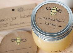 Mason jar gift labels...etsy