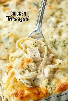 Chicken Tetrazzini Casserole, Chicken Tetrazzini Recipes, Cream Of Chicken Casserole, Chicken Cassarole, Turkey Tetrazzini, Soup Recipes, Chicken Recipes, Cooking Recipes, Dinner Recipes
