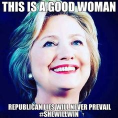 She is going to be a WONDERFUL Madam President!