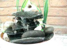 fuente de agua con lajas de u estilo feng