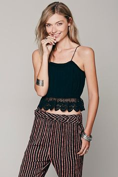 Free People White Sands Crop Top, $48, available at Free People.