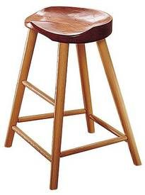 How amazing is this high stool from Thos Moser- too bad they go for 1000$ a pop- out of my budget for sure