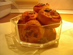 KataKonyha: Fokhagymás-sajtos csiga Cauliflower, Pudding, Vegetables, Desserts, Food, Tailgate Desserts, Deserts, Cauliflowers, Custard Pudding
