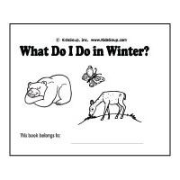 What Do I Do in Winter Booklet Animals in Winter More