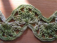TRICO y CROCHET-madona-mía: Horquilla motivos de encajes como tejerlos (grafícos) Hairpin Crochet Pattern, Crochet Stitches Patterns, Stitch Patterns, Broomstick Lace, Crochet Blouse, Crochet Lace, Loom Knitting, Baby Knitting, Yarn Projects