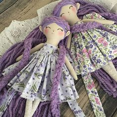 Lavender and Delilah, Delilah and Lavender . . . . In my etsy shop Friday! #marmmieandmesews #katydidforest #woodlandelf #handmadedoll #pixie #