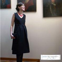 Patron couture Future Maman | Robe de grossesse | Atelier des cigognes http://www.atelierdescigognes.fr/patrons-de-couture/future-maman/patron-robe-de-grossesse.html