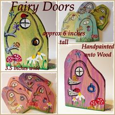 HBP005 Large Wooden Fairy Doors ~ Hancrafted by Picto