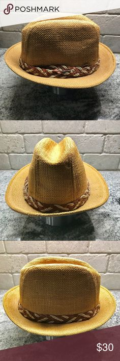 Vintage Stetson Straw Fedora, Size 7, Union Made Vintage Stetson straw hat, size 7  Union Made by The United Hatters Cap & Millinery Workers  Thanks for checking me out! Stetson Accessories Hats