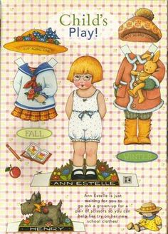Ann Estelle Play* 1500 free paper dolls at Arielle Gabriel's The International Paper Doll Society free paper dolls for my Pinterest friends..*