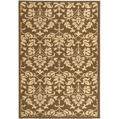 Resorts Area Indoor/Outdoor Rug, Chocolate/Natural--Another option for under table