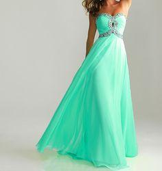 Sky blue prom dress,sweetheart prom dresses,chiffon prom dress,cheap evening dress on Etsy, $119.00