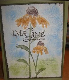 Sunflower with beautiful Stampin up impressions paper!