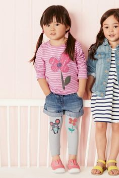 Buy Pink Stripe Flower Long Sleeve Top (3mths-6yrs) from the Next UK online shop