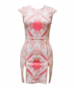 MAURIE AND EVE  gem zipper dress | SHOP NOW > http://www.threadbare.co/collections/designers-clothing/products/gem-zipper-dress #cocktaildress #print #jewelemblem