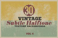 30Vintage Subtle Halftone Texture BG by DesignWorkz on Creative Market