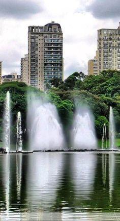 Parque do Ibirapuera, em Sao Paulo - Brasil