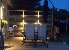 Bildresultat för led belysning staket Blinds, Porch, Garage Doors, Patio, Curtains, Outdoor Decor, House, Home Decor, Led