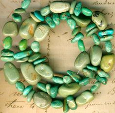 """Mexican Campo Frio TURQUOISE Beads Strand~Natural Color~Genuine~6-15mm Mexico16"""""""