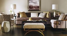 Baker: Room Scene Gallery Gold is the new metal to brighten your life.  Embrace it courageously...you only live once.