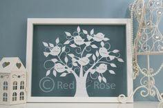 Personalised Family Tree Paper Cut 'Tweet by RedRoseDesignsUK, £50.00