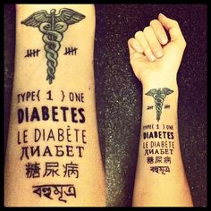 Cool tattoo type not just for someone who is diabetic but just for any health issues instead of a medical alert bracelet :)